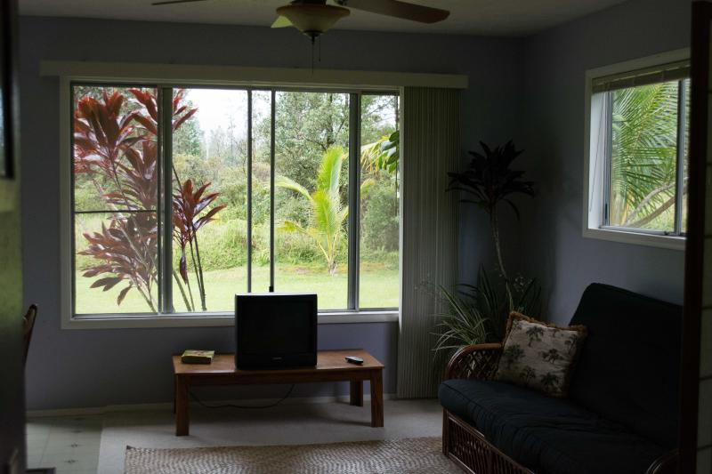 Living Room View - Quaint and Quite Ohana, studio/ Jr. 1 Bedroom, with garage and gear. - Pahoa - rentals