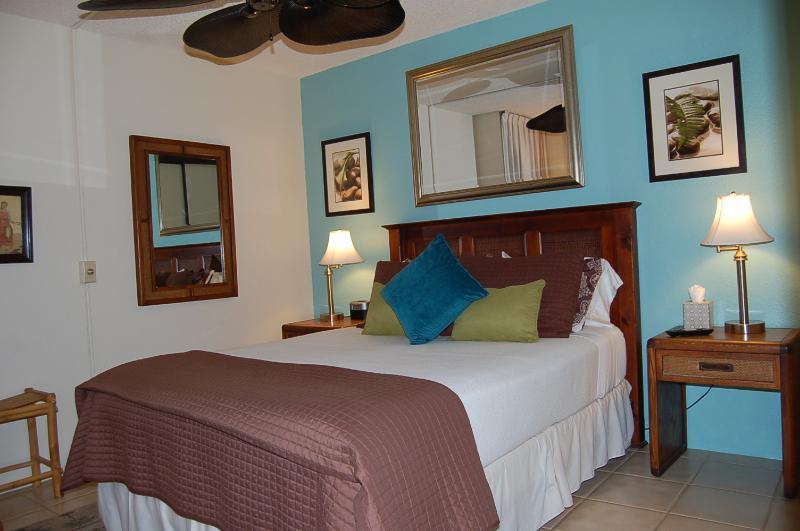 Bedroom with flat screen tv - Stay in sunny Kihei Maui with a beautiful beach - Kihei - rentals