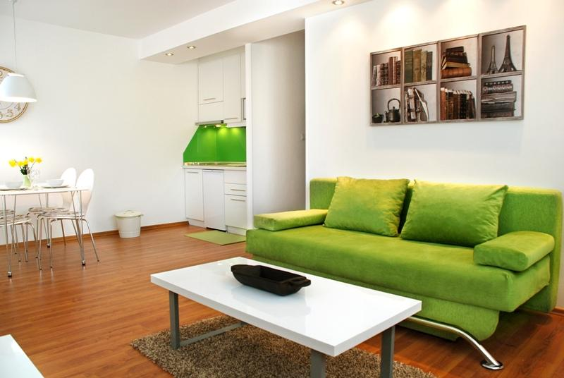 Open plan layout with living and dining area - New, modern apt. close to all major sights - Green - Sarajevo - rentals