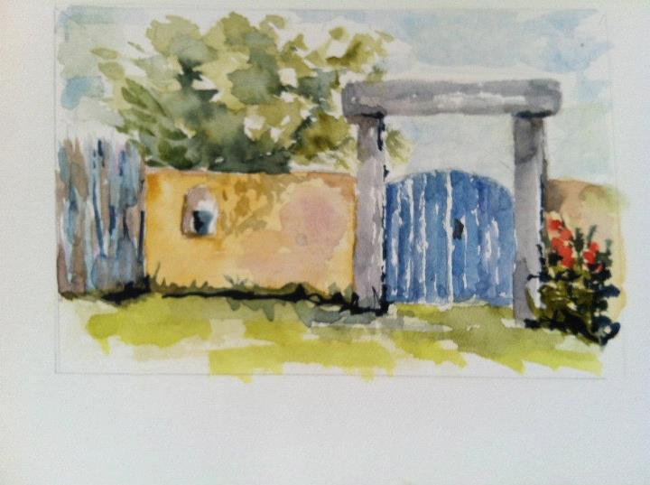 My painting of the front gate, welcome - Just 3 blocks to Plaza.CLEAN**QUIET**GREAT REVIEWS - Taos - rentals