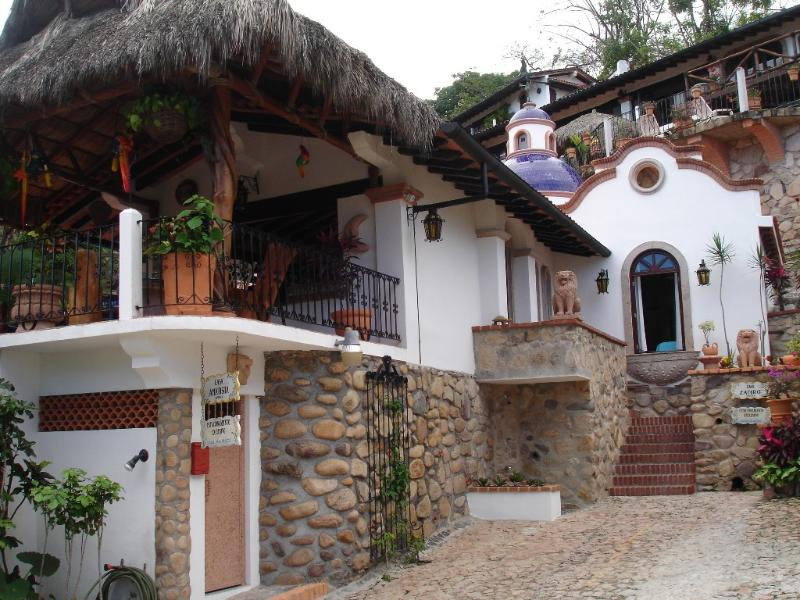 Villa Entrance - Spanish Villa with Ocean View 100 steps from Beach - Puerto Vallarta - rentals