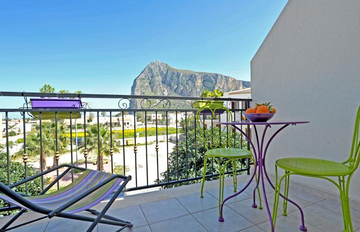 Mira4 San Vito Lo Capo Balcone verandina vista Monte Monaco. - Mira4 - San Vito Lo Capo a 650 metri dalla spaiggia - San Vito lo Capo - rentals