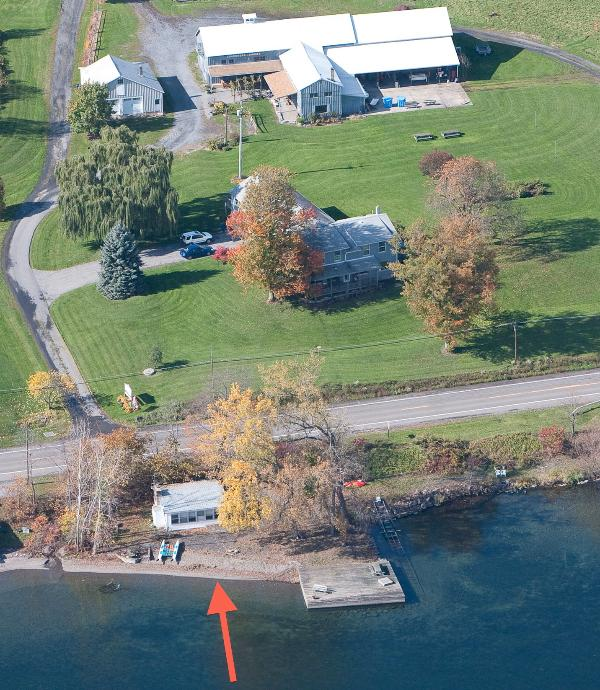 Aerial view including Lakeshore Winery - Lakeshore Winery Cottage - Romulus - rentals