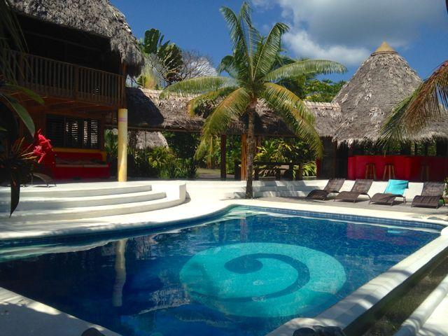 Large Pool and Patio Area - Beachfront Villa with Large Pool - Puerto Jimenez - rentals