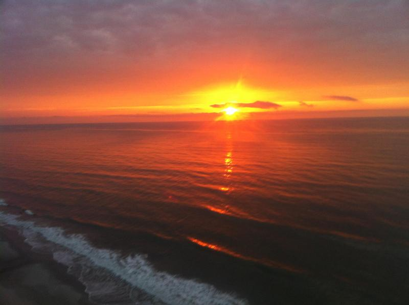 Sunrise from Balcony - 1st Floor Oceanfront Myrtle Beach Condo Rental with a Pool - Myrtle Beach - rentals