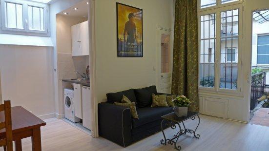 The living room - Studio   Paris Latin quarter district (928) - Paris - rentals