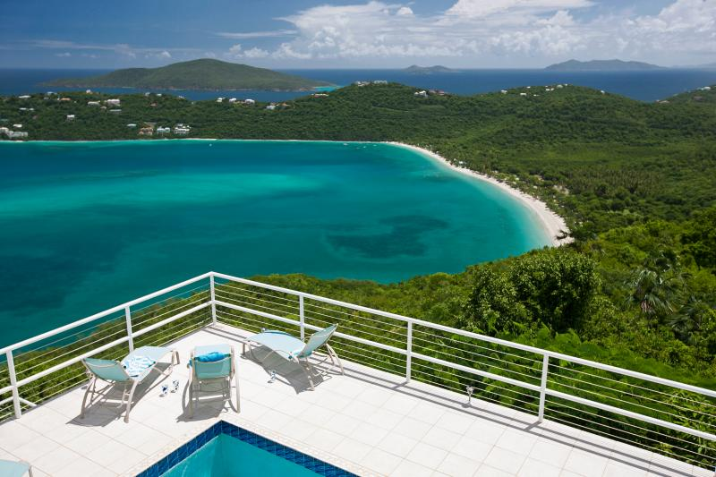Sunning looking at Magen's Bay Beach - Panoramic Views and Wow factor total rennovations! - Magens Bay - rentals