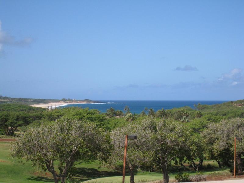 Views of Papohaku Beach from the lanai - Ke Nani Kai 226 Beach & Ocean view Condo - Maunaloa - rentals