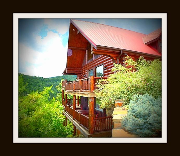 Front View of Cabin with Two Decks - Paradise In The Smokies!  4/3 With Majestic Views! - Pigeon Forge - rentals