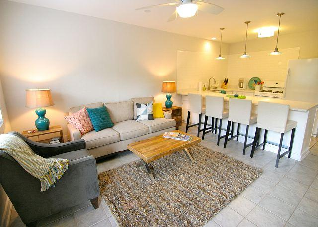 Living Room - The Mellow Yellow #2 - 2BR/1BA Updated Casita -Walk to South Lamar and Zilker - Austin - rentals