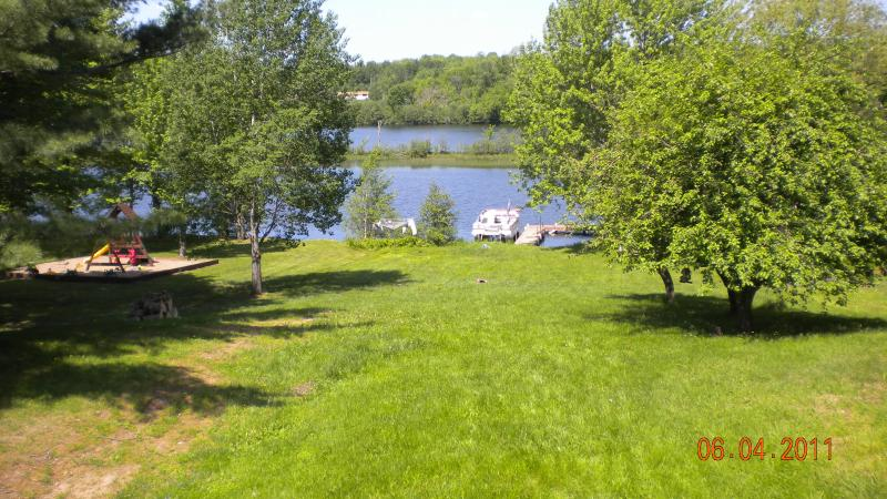 River View from Upstairs Living Room - The WI River Cabin: ON THE RIVER-FLEX SCHEDULING! - Tomahawk - rentals