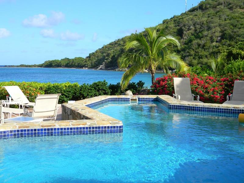 Spectacular setting steps away from the Caribbean - Luxury 5 Bedroom Waterfront Villa - Virgin Gorda - rentals