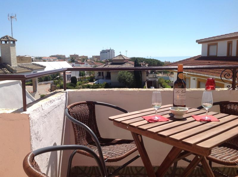 TERRACE - DOÑANA and beaches. Cozy apartment in Chalet. 3 bedrooms and 3 bathrooms. 6 persons sleeping - Matalascanas - rentals