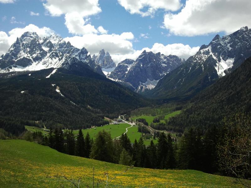 the view onto the valley - Kofelhof Farm Holidays Mountain - Sesto - rentals