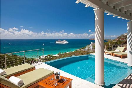 Modern villa Palms at Morningstar with infinity pool & ocean views a short drive to the beach - Image 1 - Frenchman's Bay - rentals
