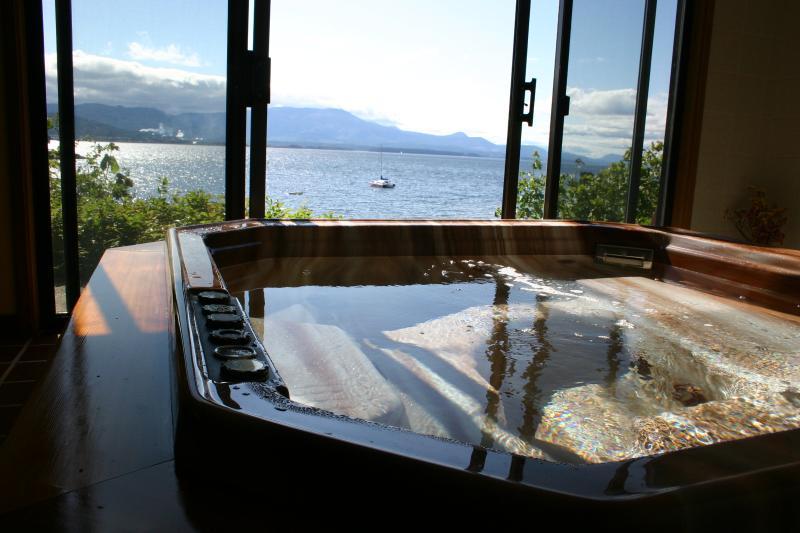 Oceanfront hot tub - Oceanfront suite Vesuvius Beach, Salt Spring Isl - Salt Spring Island - rentals