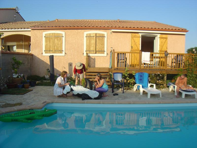 Private swimming pool - Modern home in the south of France - Saint Jean Lasseille - rentals