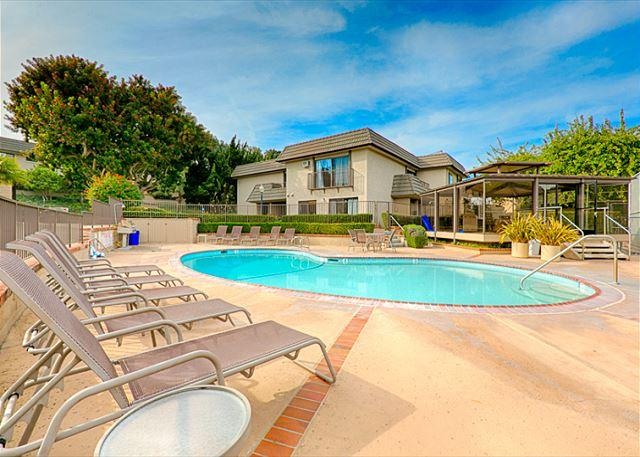 Enjoy the heated pool and sun deck just steps from your front door at the Del Mar Beach Club - Solana Beach condo just steps to the pool and ocean - Solana Beach - rentals