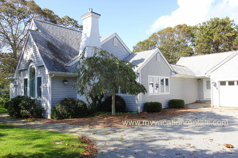 Entry side of home - FIEDJ - Walk to Town, Central A/C, Wifi - Edgartown - rentals