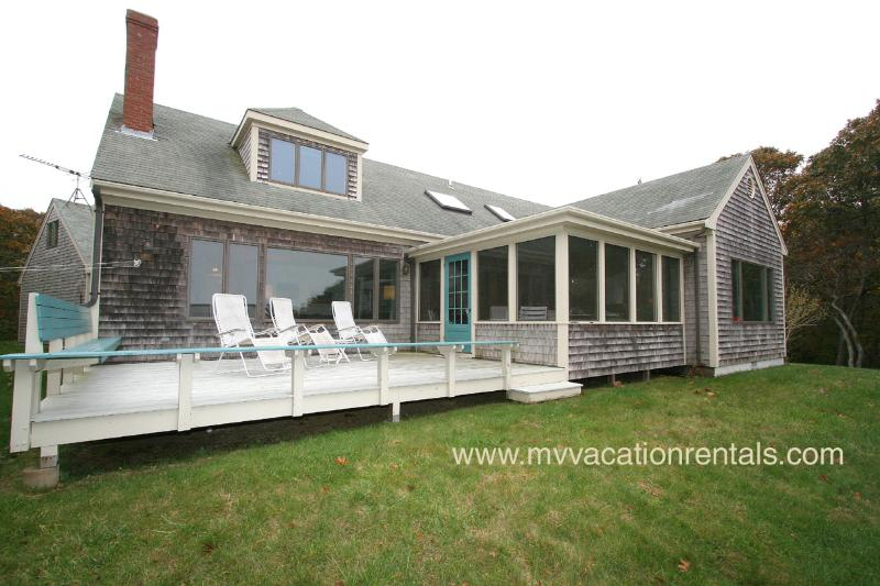 Waterview and Yard Side of House - BERWD - Waterview, Walk to Menemsha Beach - Chilmark - rentals
