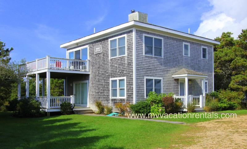 Entry Side of House, Yard - PETES - South Beach Edgartown, Central Air, WiFi - Edgartown - rentals