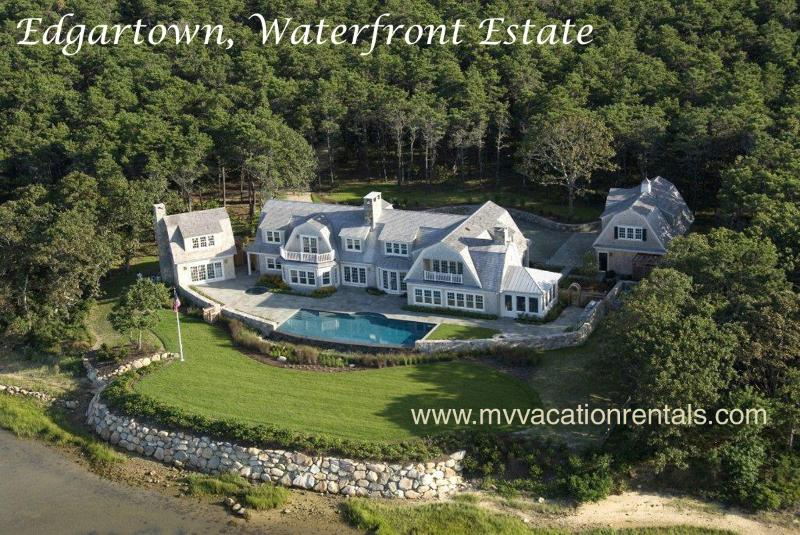ROSBP - Water Haven- Spectacular Waterfront  Luxury Vacation Home, Infinity Pool and Spa, - Image 1 - Edgartown - rentals