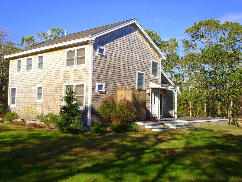 Entry Side of House - ITALA - North Slope Custom Home, Large Wrap Around Deck, WiFi - Chilmark - rentals