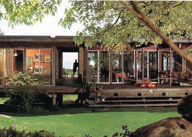 Exterior of House - HARRD - Spectacular Waterviews, Pool, WiFi - Chilmark - rentals