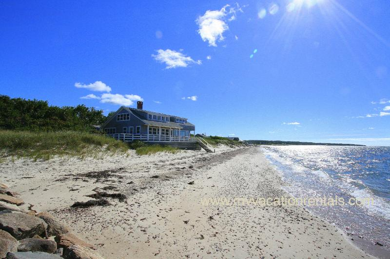 View of House from Beach - GRUNM - Waterfront and Beachfront, Hi Speed Internet - Vineyard Haven - rentals