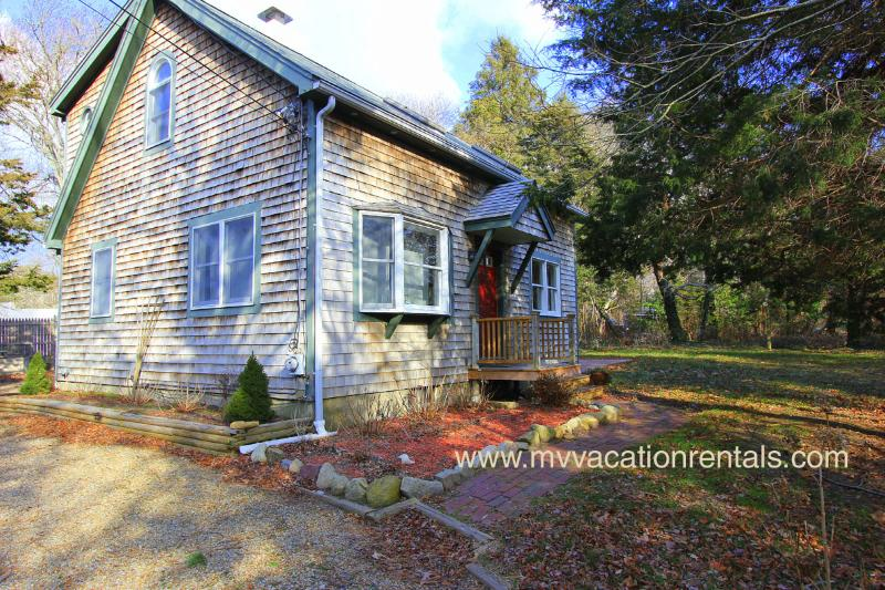 Entry Side of House - MOORR - Adorable Renovated Vacation Home, WiFi, Patio, Large Yard,  Central - Oak Bluffs - rentals