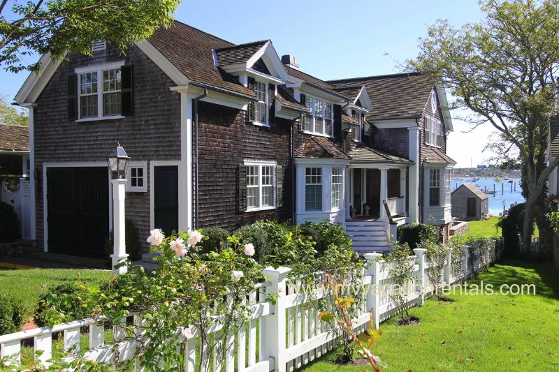 Entry Side of Harborfront House - RONAP - Shamrock House, Luxurious Home, In-town, Harborfront, Dock, Spectacular - Edgartown - rentals