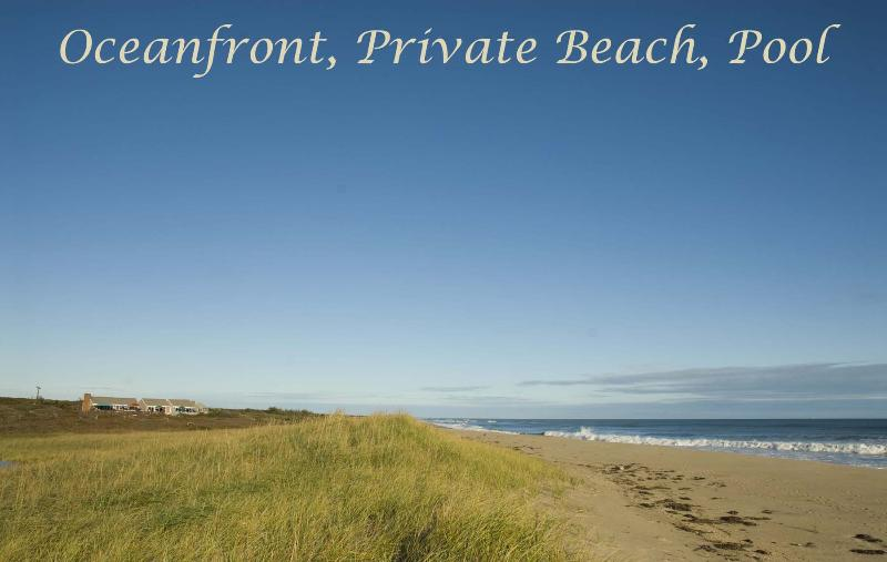 Beach & House from Dunes - BSCHL - Oceanfront, Private Beach, Pool, WiFi - West Tisbury - rentals