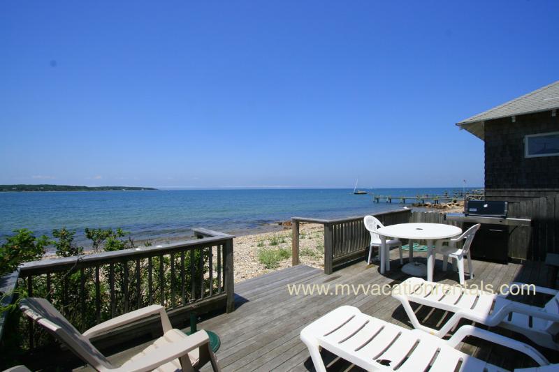 View from Deck - OSMAM - Waterfront, Waterview, Wifi - Oak Bluffs - rentals