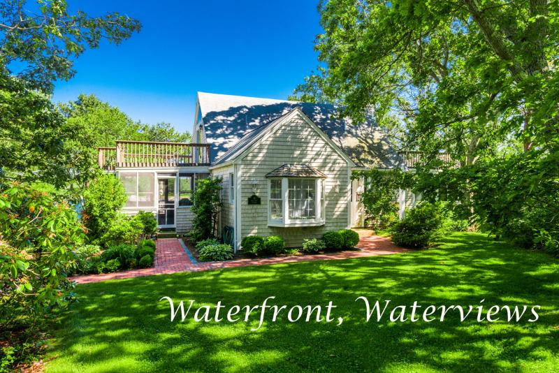 Exterior of House - PETEV - Waterfront Private Family Oriented Community, Gorgeous Water Views, Private Association Tennis Courts, AC, Wi-fi, Bike Paths Nearby, Ferry Tickets - Please Inquire - Oak Bluffs - rentals