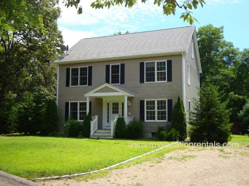 Entry side of home - BURBR - Perfect  Retreat for Large Families, Newly updated, 1.5 miles to Town and Ink Well Beach, AC , Wireless - Oak Bluffs - rentals