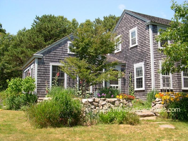 Front of House - KASSB - Meadow House with Writer's Cottage, Screened Porch, WIFI, and Some A/C - West Tisbury - rentals