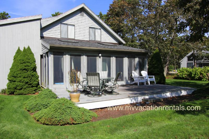 Screened in porch and deck - PAGED - South Beach Edgartown, Central Air - Edgartown - rentals