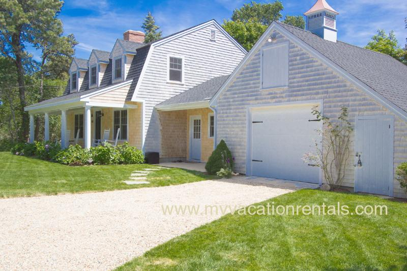 Front Entry Side of House - BURNH - Heart of Katama, Newly Renovated, 1 .5 Miles to  South Beach , Bike Paths, Central A/C - Edgartown - rentals