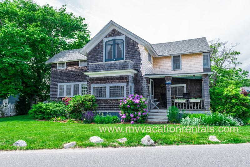 Exterior and Porch - GRATD - In-Town, WiFi - Oak Bluffs - rentals