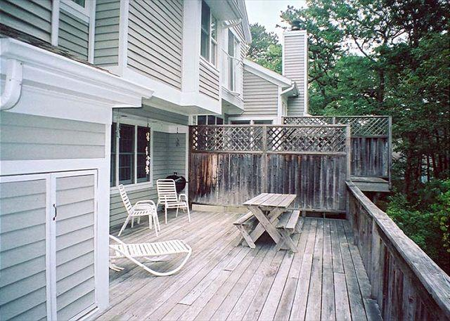 Deck - FREES - Tashmoo Cove Condominium, Private Association Pool, Tennis and Beach - Vineyard Haven - rentals