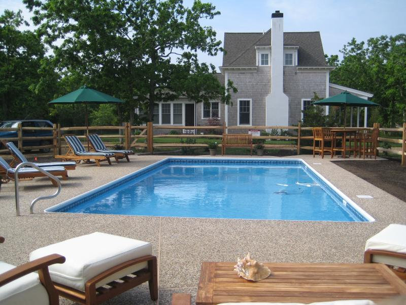 Pool (shared with renters/guests in the guest house) - KENNJ - Luxury Home, A/C, Out of Town, Idyllic Setting, Pool - shared with Guest House - Edgartown - rentals