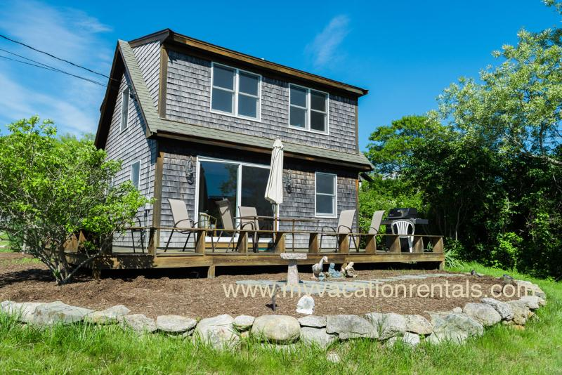 View of Side of House and Deck - FENNB - Menemsha, Waterview, Walk to beach - Chilmark - rentals