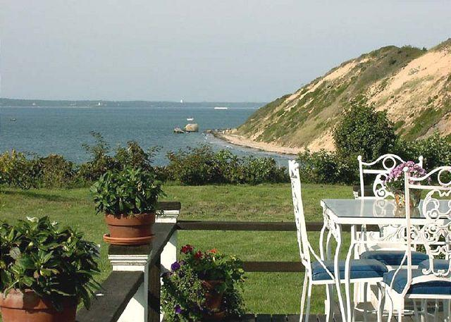 View from Deck - ROCKT - Waterfront, Private Beach Frontage, Large Yard to Ocean's Edge, World Class Views - West Tisbury - rentals