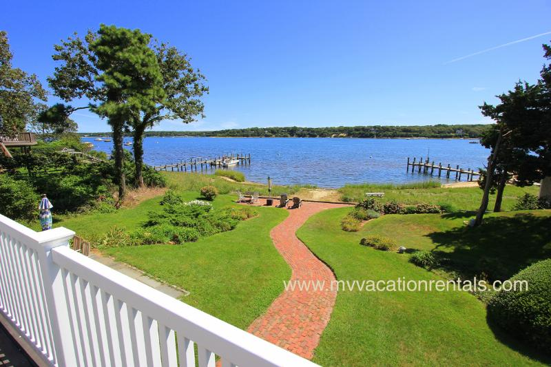View of Lagoon Across from 2nd Level Deck - BROWN - Waterfront on the Lagoon, Spectacular Views,  Tri-Level Home, Multiple - Vineyard Haven - rentals