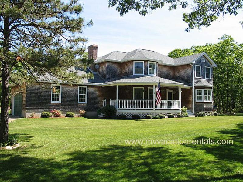 """Exterior of House & Yard - ROCHB - Bridle Path Beauty , Family Room w/ Pool Table, Large Porch, 47"""" LCD HDTV, Wifi, A/C - Oak Bluffs - rentals"""