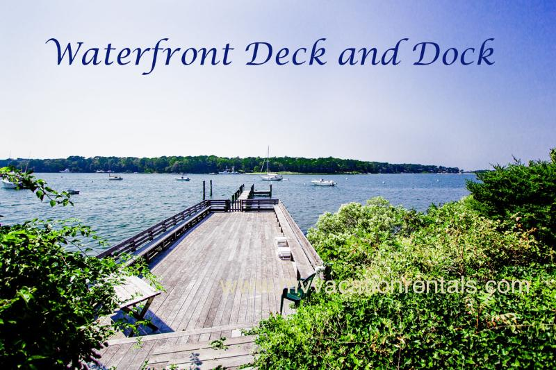 Waterfront Deck and Dock - KERR4 -  Sophisticated and Charming Waterfront Cottage, Large Waterfront Deck - Vineyard Haven - rentals