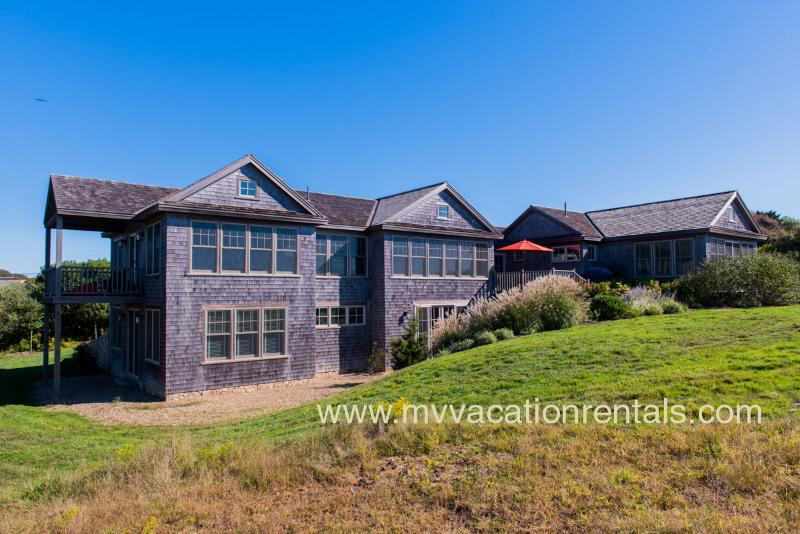 Waterview Side of House - HAJJA - Outstanding Designer Residence, Sweeping Atlantic Views and Gorgeous Sunsets, Professionally Decorated. - Aquinnah - rentals