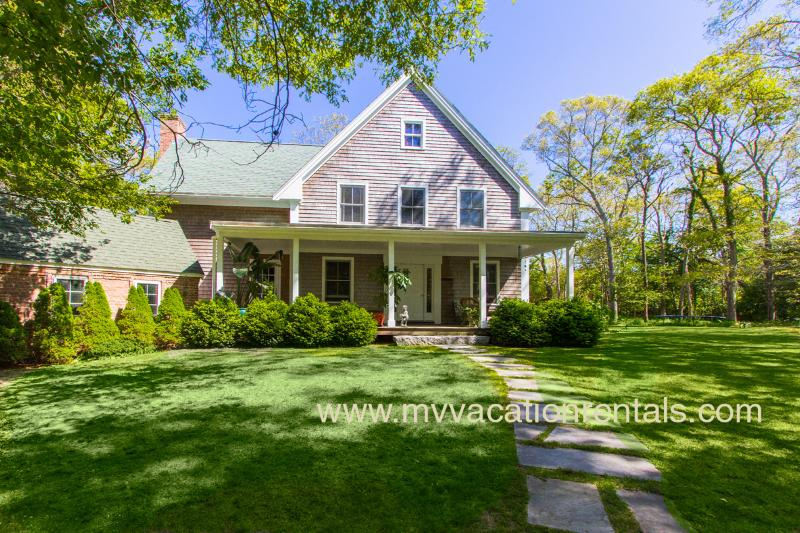 Entry Side of House - OCALK - Charming Custom Home, 3 Living Areas, Chef's Kitchen, Large Private - Vineyard Haven - rentals