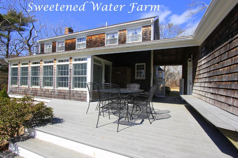 Deck and Sunporch Side of House - CLEME - Sweetened Water Farm, 1 Mile from Village Center, Bike or Walk to Town, WiFi - Edgartown - rentals