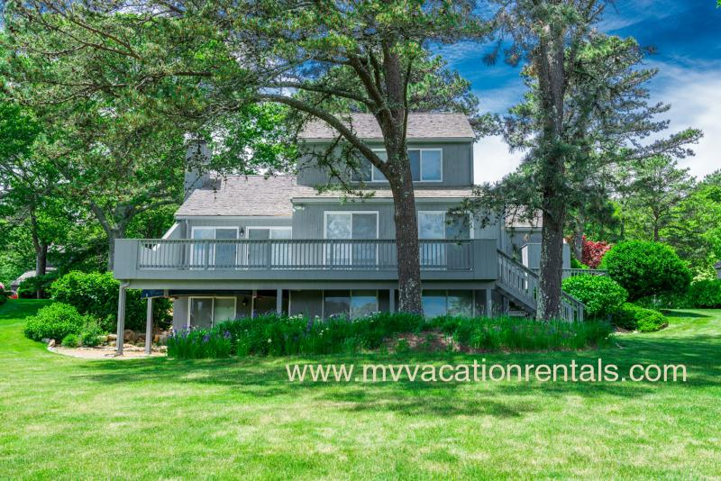 Yard Side of House and Deck - DEGRA - Loveley Contemporary Home Located in Hidden Cove, Lovely Pondview - Oak Bluffs - rentals